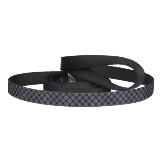 Blue and Brown Mackenzie Clan Reproduction Tartan Dog Lead