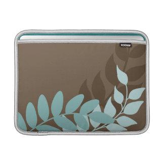 Blue and Brown Mod Vines Macbook Air Sleeve