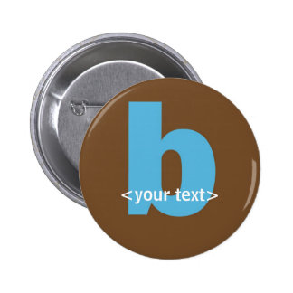Blue and Brown Monogram - Letter B Pin