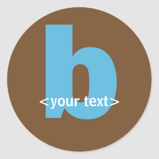 Blue and Brown Monogram - Letter B Stickers