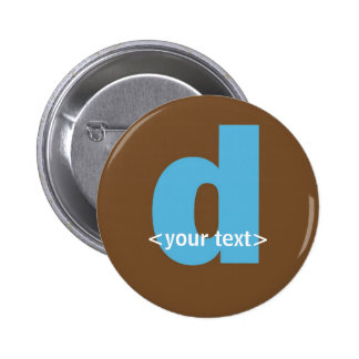 Blue and Brown Monogram - Letter D Buttons