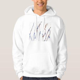 Blue and brown paint streaks hoodie