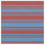 [ Thumbnail: Blue and Brown Pattern of Stripes Fabric ]