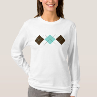 Blue and Brown Patterns T-Shirt