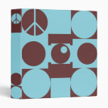 Blue and Brown Peace Dots Binder