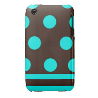 Blue and Brown Polka-dot iPod Touch Case