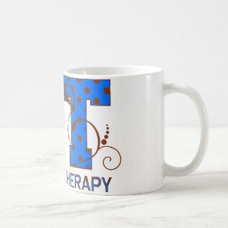 Blue and Brown Polka Dots Coffee Mug
