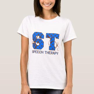 Blue and Brown Polka Dots T-Shirt