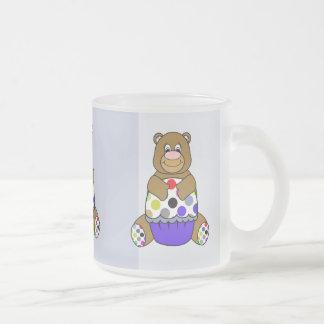 Blue And Brown Polkadot Bear Mug
