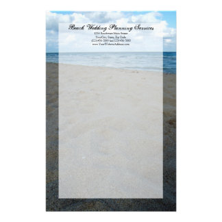 Blue and Brown Sands ~ Beach Wedding Stationery Design