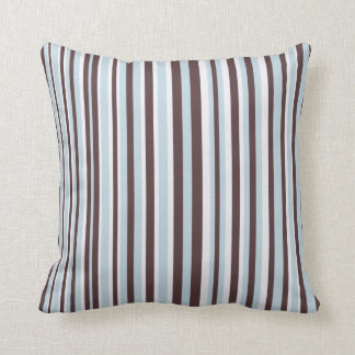 Blue and Brown Stripe American MoJo Pillow