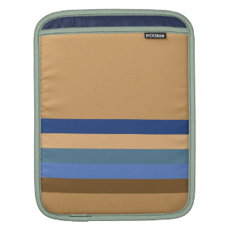 Blue and Brown Stripes iPad Sleeve