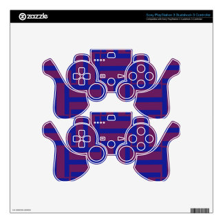 Blue and Brown T Weave Decal For PS3 Controller
