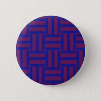 Blue and Brown T Weave Pinback Button