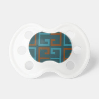 Blue and Brown Tile Pacifier