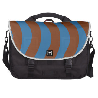Blue and Brown Wave Stripes Commuter Bags