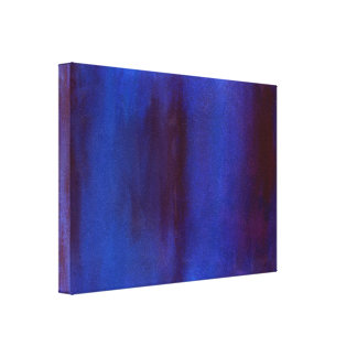 Blue and Burgundy Abstract Streaks Canvas Print