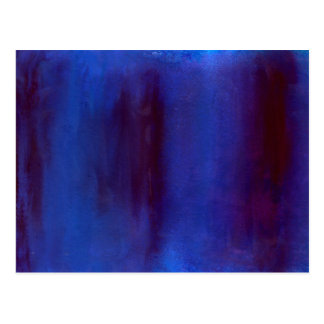 Blue and Burgundy Abstract Streaks Postcard