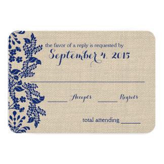 Blue and Burlap Enchantment Response Card
