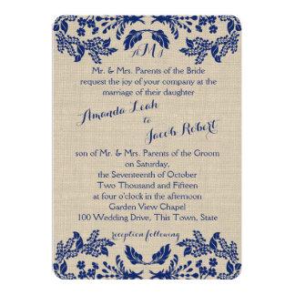 Blue and Burlap Garden Enchantment Card