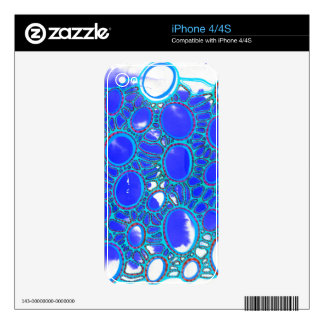 blue and but iPhone 4 skin