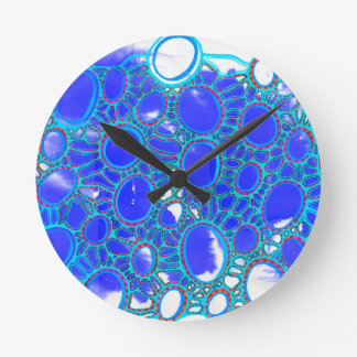 blue and but round clock