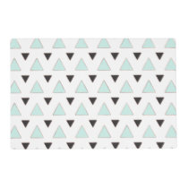 Blue and Charcoal Triangle Pattern Placemat