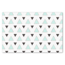 Blue and Charcoal Triangle Pattern Tissue Paper