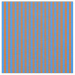 [ Thumbnail: Blue and Chocolate Striped/Lined Pattern Fabric ]