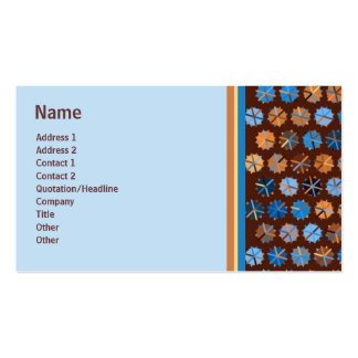 Blue and Copper Dots Bordered Biz Cards Double-Sided Standard Business Cards (Pack Of 100)