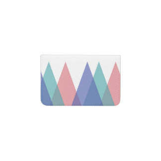 Blue and coral triangles business card holder