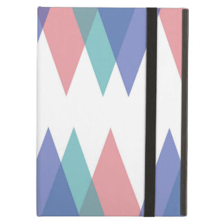 Blue and coral triangles case for iPad air