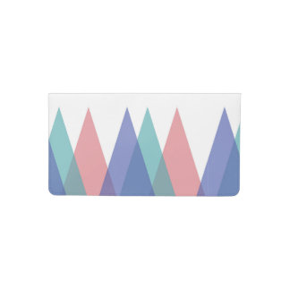 Blue and coral triangles checkbook cover