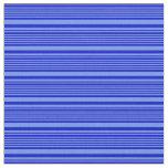 [ Thumbnail: Blue and Cornflower Blue Stripes Fabric ]