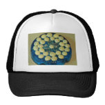 Blue and Cream Circle of Friends Mesh Hats