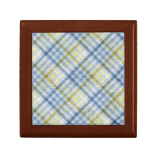 Blue and Cream Plaid Gift Box