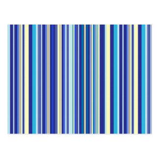 Blue And Cream Stripes Postcard