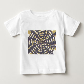 Blue and Creamy Crop Circle Polka Dot Oval Pattern Baby T-Shirt