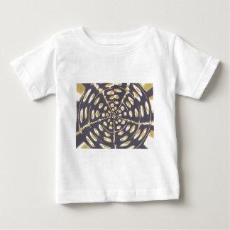Blue and Creamy Crop Circle Polka Dot Oval Pattern Baby T-Shirt