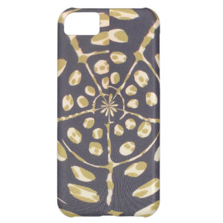 Blue and Creamy Crop Circle Polka Dot Oval Pattern Case For iPhone 5C