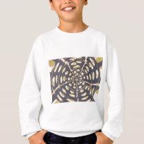 Blue and Creamy Crop Circle Polka Dot Oval Pattern Sweatshirt