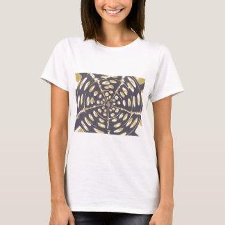 Blue and Creamy Crop Circle Polka Dot Oval Pattern T-Shirt