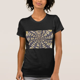 Blue and Creamy Crop Circle Polka Dot Oval Pattern T-Shirt