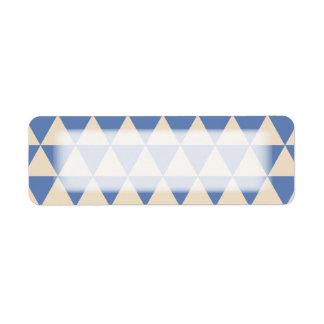 Blue And Creamy White Triangle Pattern Label