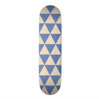 Blue And Creamy White Triangle Pattern Skate Board Decks
