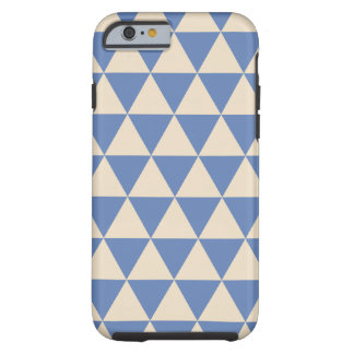 Blue And Creamy White Triangle Pattern Tough iPhone 6 Case