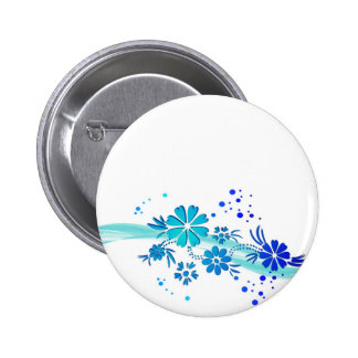 blue and cyan flowers button