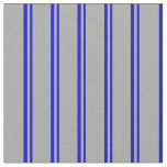 [ Thumbnail: Blue and Dark Grey Stripes/Lines Pattern Fabric ]