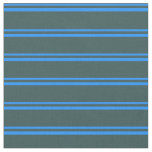 [ Thumbnail: Blue and Dark Slate Gray Striped/Lined Pattern Fabric ]