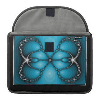 Blue and Diamonds Fractal Abstract MacBook Pro Sleeve